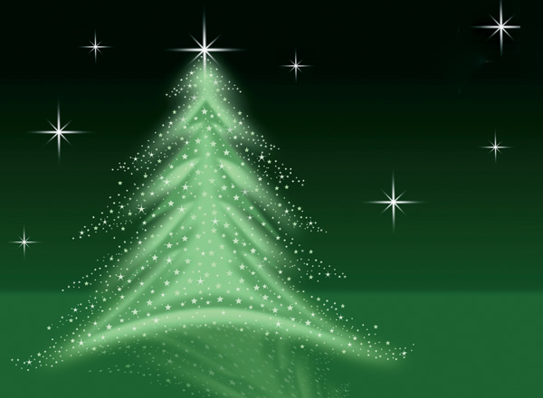 Christmas Tree Illustration - Green