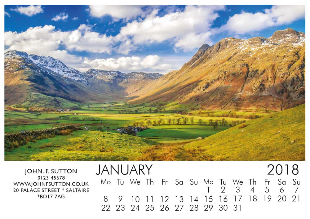 Countryside A5 Calendar 2018