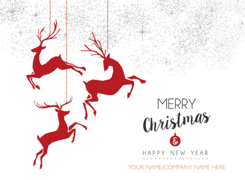 Red Deer Decoration - Front Personalised