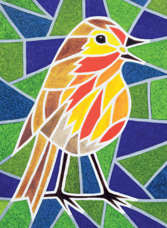 Stain Glass Robin