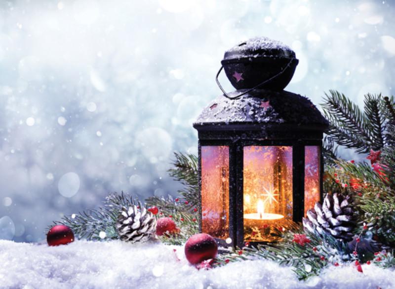 Christmas Lantern.Christmas Lantern Traditional Christmas Cards
