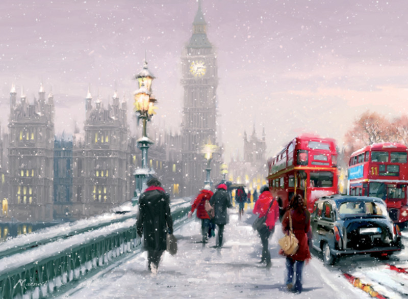 Westminster Bridge in the Snow
