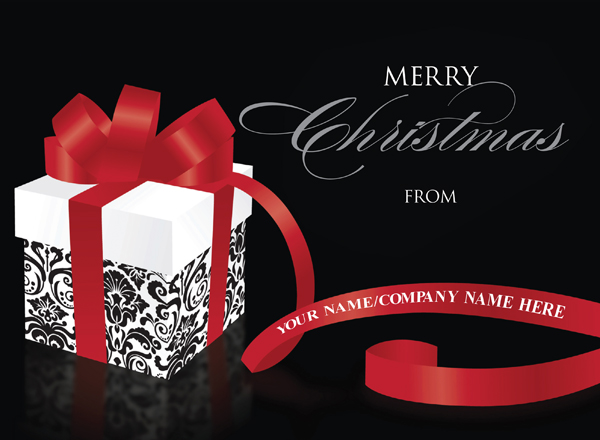 Christmas Ribbon - Front Personalised
