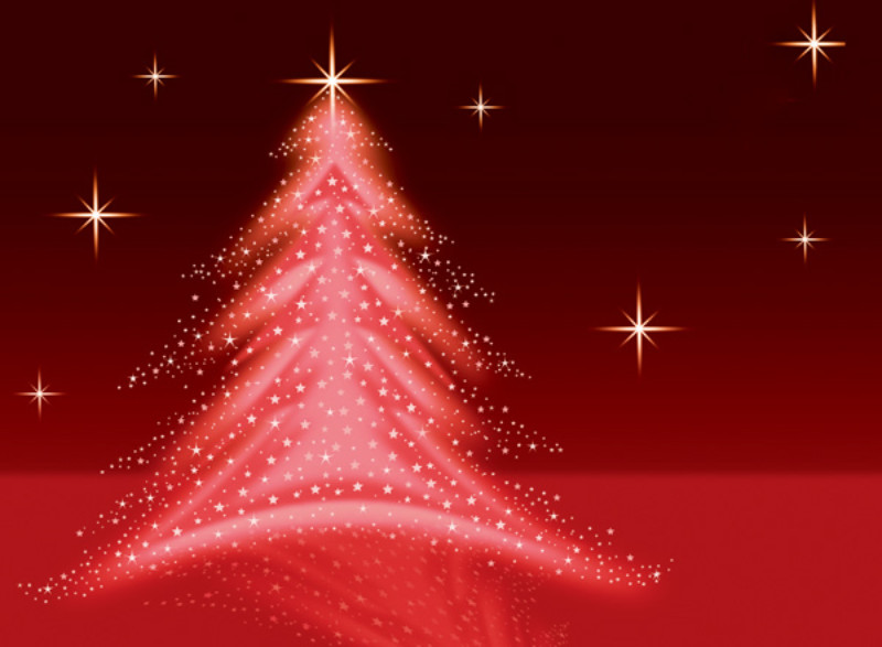 Christmas Tree Illustration - Red