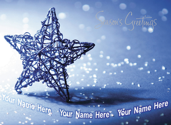 Christmas Star - Front Personalised