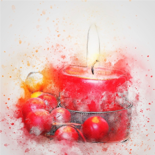 Watercolour Candle