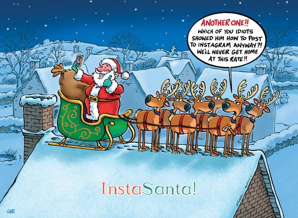 insta santa - Humorous Christmas Cards