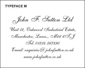 Typeface M