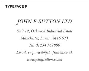 Typeface P