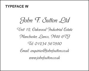 Typeface W