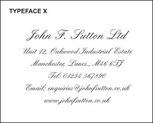Typeface X