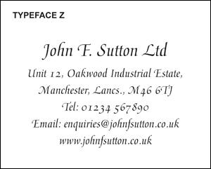 Typeface Z